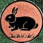 Emblem 25mm Hase, bronze