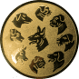 Emblem 50mm Hunderassen, gold
