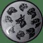 Emblem 50mm Hunderassen, silber