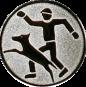 Emblem 25mm Hundesport mit Führer, silber