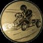 Emblem 50mm Kartfahrer 1, gold