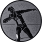 Emblem 50mm Kugelstossen, silber