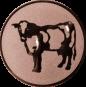 Emblem 50mm Kuh, bronze