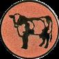 Emblem 25mm Kuh, bronze