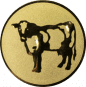 Emblem 50mm Kuh, gold
