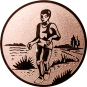 Emblem 50mm Laeufer am See, bronze