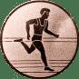 Emblem 50mm Laeufer, bronze