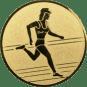 Emblem 50mm Laeuferin, gold