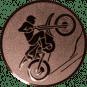 Emblem 50mm Motocross, bronze