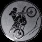 Emblem 50mm Motocross, silber