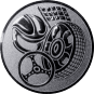 Emblem 50mm Motorsport, silber