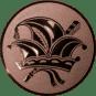Emblem 50mm Narrenkappe, bronze