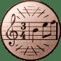 Emblem 50mm Notenschlüssel 3/4, bronze