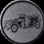 Emblem 50mm Oldtimer, silber