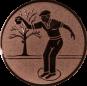 Emblem 50mm Petanque männl., bronze