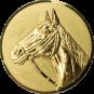 Emblem 25mm Pferd 3D, gold
