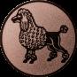 Emblem 50mm Pudel, bronze