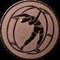 Emblem 50mm Rhönrad, bronze