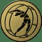 Emblem 50mm Rhönrad, gold