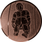 Emblem 50mm Rodeln, bronze