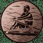 Emblem 50mm Ruderer, bronze
