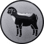 Emblem 50mm Schaf, silber