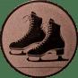Emblem 50mm Schlittschuhe, bronze