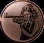 Emblem 50mm Schütze m. Gewehr, bronze schießen