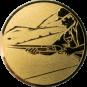 Emblem 50mm Schütze m. Schrotflinte, gold schießen