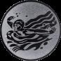 Emblem 50mm Schwimmer Schmetterling, silber