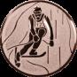 Emblem 50mm Ski Alpin, bronze
