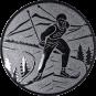 Emblem 50mm Ski Langlauf, silber