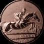 Emblem 50mm Springreiter 3D, bronze