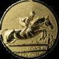 Emblem 50mm Springreiter 3D, gold