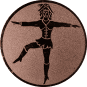 Emblem 50mm Tanzmariechen, bronze
