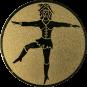 Emblem 50mm Tanzmariechen, gold