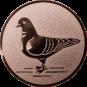 Emblem 50mm Taube links, bronze