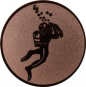 Emblem 50mm Taucher, bronze