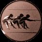 Emblem 50mm Tauziehen, bronze