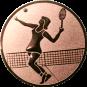 Emblem 50mm Tennisspielerin, bronze