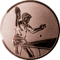 Emblem 50mm Tischtennisspieler, bronze