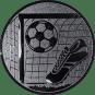 Emblem 25mm Tor, Fußball, Schuh, silber