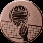 Emblem 50mm Volleyball mit Hand, bronze