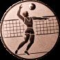 Emblem 50mm Volleyballer, bronze