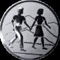 Emblem 50mm Wanderer Paar, silber