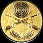 Emblem 25mm Zielsch. mit Gewehren u. Eichenlaub, gold schießen