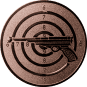 Emblem 50mm Zielsch. mit Pistole, bronze schießen
