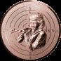 Emblem 50mm Zielsch. Schütze Gewehr 3D, bronze schießen