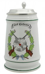 "Keramikkrug ""Schützen/Gut Schuss"""