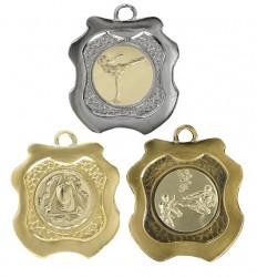 """Medaille """"Kamiros"""" Ø 45mm mit Wunschemblem und Band"""